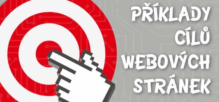 Příklady měřitelných cílů webových stránek