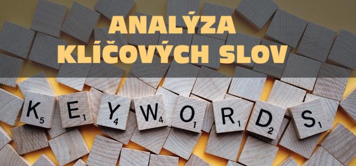 Nástroje pro návrh a analýzu klíčových slov