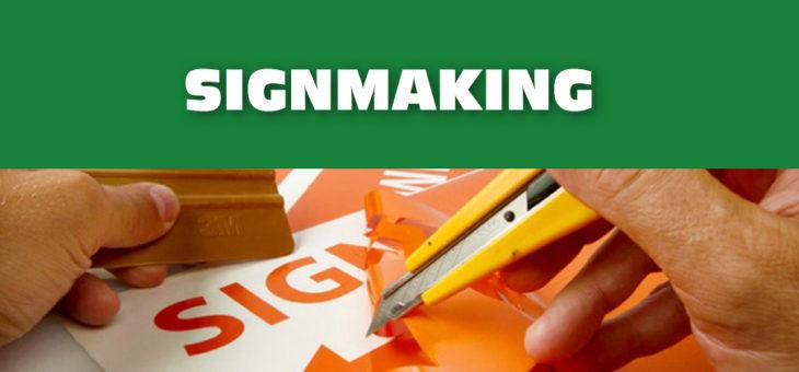 Signmaking – vyřezávaná reklama, digitální tisk a reklamí předměty
