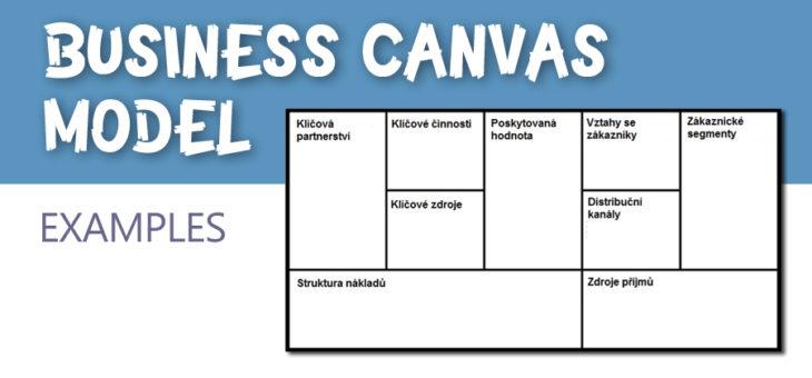 Příklady canvas business modelů