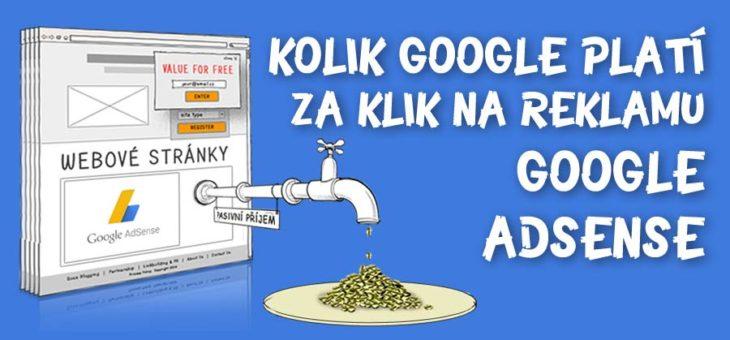 Kolik Google platí za klik na reklamu Google AdSense